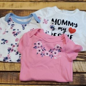Other - Bundle Of 3 Onesies Size 6-9 Months #A33